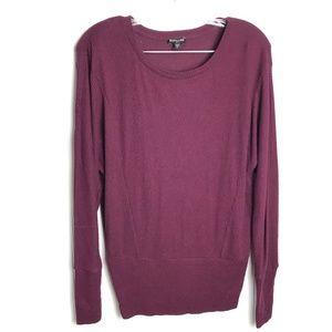 EXPRESS Knit Sweater Dolman Burgundy XS
